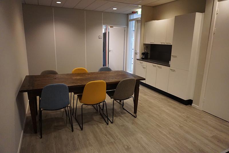 Gemeenschappelijke ruimte op de 1e verdieping Bedrijfsverzamelgebouw Kanaalweg 22 Utrecht