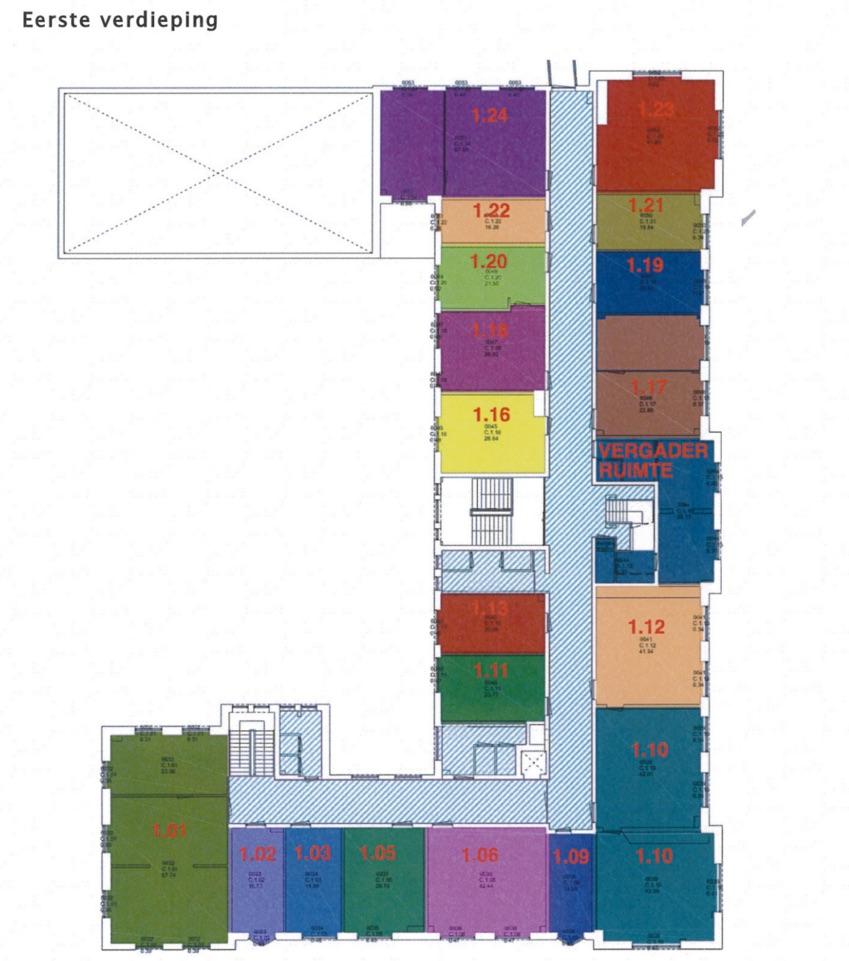 Hilversum Een - Plattegrond 1e verdieping