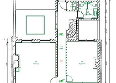 Brigittenstraat Kantoor Kamers 1e etage te huur circa 80m2