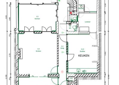 Brigittenstraat Kantoor Kamers begane grond te huur circa 80m2 en 30m2